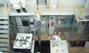 Реакторлық залдың қоймасына бұйымдарды жүктеу
